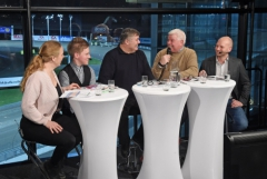 Expertpanelen gjorde sitt första framträdande på Restaurang Kongressen när Solvalla har smygpremiär för sin tisdagssatsning. Foto av LARS JAKOBSSON
