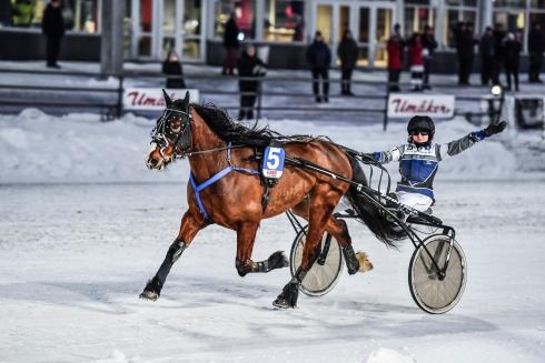 Lill Alfred och Amalia Larsson vid segern på Umåker i slutet av januari. Foto: Jenny Rehnman Foto av Jenny Rehnman