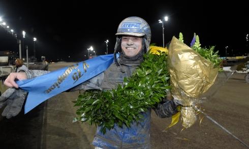 Carl Johan Jepson vann årets upplaga av V75 Champions. Foto av Lars Jakobsson/TR Bild