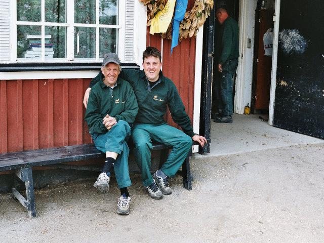 Kjelle och Emil Magnusson. Viktiga spelare i Ytterstas lag..
